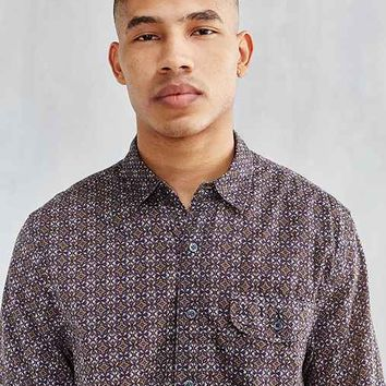 CPO Ornate Tile Short-Sleeve Button-Down Shirt