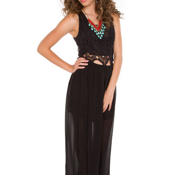 Katniss Maxi Dress - Black