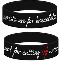 Sleeping With Sirens | Wrists-Are-For-Bracelets-Black-Accessory