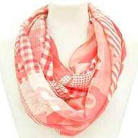 Breast Cancer/Pink Ribbon Infinity Scarf