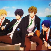 FREE! IWATOBI SWIM CLUB / DEVILS AND REALISTS, Folded Poster, Anime, Official