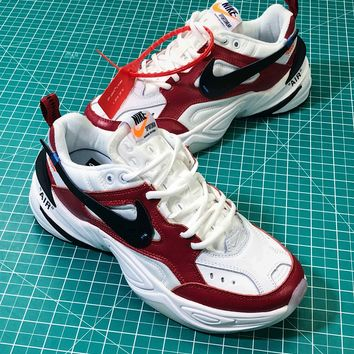 OFF White X Nike Air Monarch The M2k Tekno Sport Running Shoes Sneakers - Best Online Sale