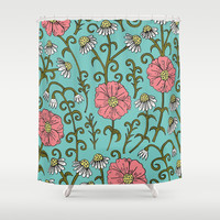 Flourish (version 2) Shower Curtain by PeriwinklePeacoat