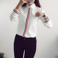 Work Wear 2016 Women Shirt Chiffon Blusas Femininas Tops Elegant Ladies Formal Office White Blouse