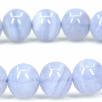"Natural Gem Semi Precious Gemstone 6mm Round Beads Stretch Bracelet 7"" Unisex"