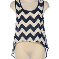 G2 Chic Chevron High-Low Tank