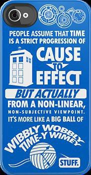 "Dr. Who ""Blink"" Time-y Wimey iPhone Case"