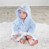 Baby Aspen BA14069BL Little Prince Hooded Spa Robe Personalization Available
