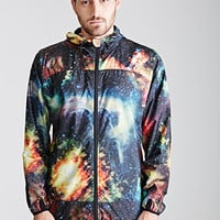 Galaxy Print Running Jacket