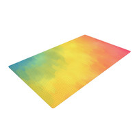 "Fotios Pavlopoulos ""Watercolor Layers"" Rainbow Woven Area Rug"