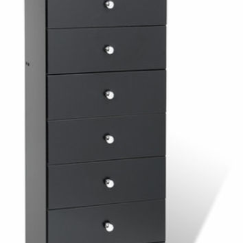 Black Edenvale 7 Drawer Tall Chest