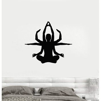 Vinyl Decal Yoga Pose Zen Buddhism Meditation Decor Wall Stickers Unique Gift (ig2689)