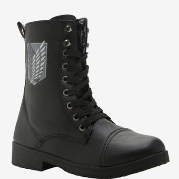 Attack On Titan Scout Badge Combat Boots