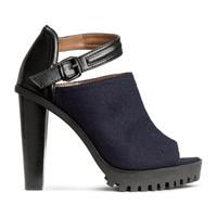 H&M - Sandals - Dark blue - Ladies