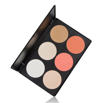 Cosmetics 6 Colors Pressed Power Foundation Makeup Palette