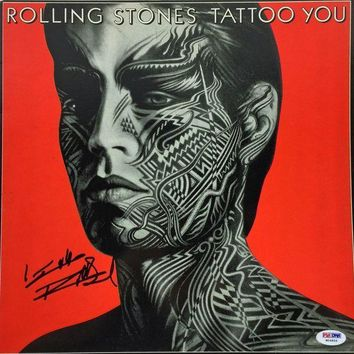 ICIKJNG Keith Richards Signed Autographed 'Tattoo You' Rolling Stones Record Album (PSA/DNA COA)