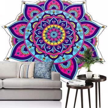 Ouneed Hanging Wall Yoga Tapestry India Mandala Blanket Multifunction Bedspread Beach Towel Blanket Curtain Happy Sale ap515