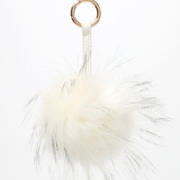 Nila Anthony Faux Fur Ball Keychain at PacSun.com