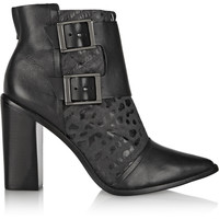 Tibi - Piper snake-effect leather boots