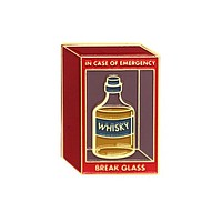 Break Glass Whisky Pin