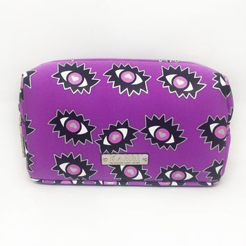 Eyes Neoprene Small Cosmetic Bag