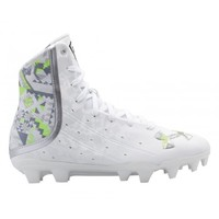 Under Armour Wmns Highlight Lacrosse Cleats - White/Lime | Lacrosse Unlimited