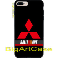 New Mitsubishi Rally Stripes Logo Black CASE iPhone 6s/6s+7/7+8/8+,X and Samsung
