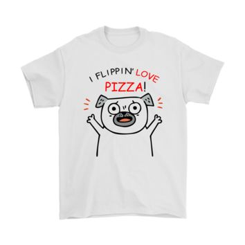 PEAPV4S I Flippin' Love Pizza Cute Dog Shirts