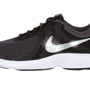 Nike Revolution 4 + Crystals - Black/White