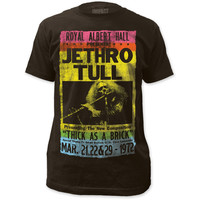 Jethro Tull T-shirt - Royal Albert Hall March 1972 Concert Show Performances Advertisement Poster | Men's Black Vintage Shirt