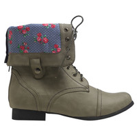 Foldover Combat Boot | Wet Seal