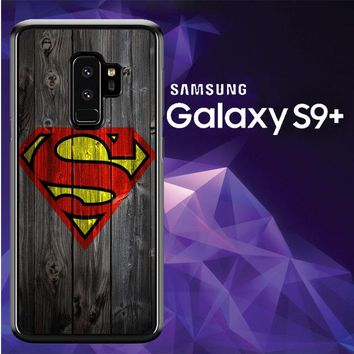 Wood Superman Logo 1215 F0249 Samsung Galaxy S9 Plus Case
