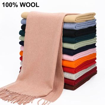 Inner Mongolia 100% Wool Fur Scarf Men 2017 Winter Square Cape Women Ukraine Shawl Wrap Blanket Poncho Scraf Christmas Gift UK