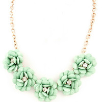 Flower Necklace Medium Mint : Cute Aprons - Cute Holiday Dresses - Cute Maxi Skirts - Cute Christmas Gifts - Daisy Shoppe