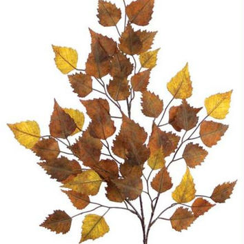 12 Leaf Sprays - Brown Birch Leaf