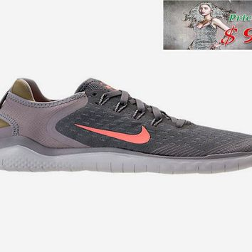 Sneaker paint WOMENS NIKE FREE RN 2018 RUNNING SHOES 942837 005 Gunsmoke Crimson Pulse Atmosphere shoe