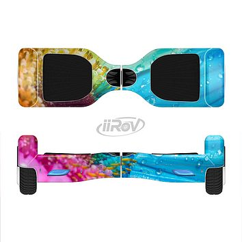 The Vibrant Colored Wet Flower Full-Body Skin Set for the Smart Drifting SuperCharged iiRov HoverBoard