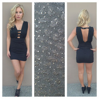 Black Sparkle Club Dress