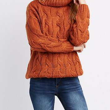 Oversize Cowl Neck Sweater | Charlotte Russe