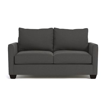 "Tuxedo Apartment Size Sofa :: Leg Finish: Espresso / Size: Apartment Size - 69""w"