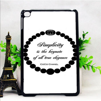 COCO CHANEL QUOTE SIMPLICITY IPAD MINI 1 | 2 | 4 CASES