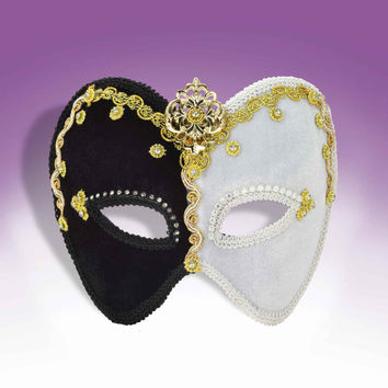 Fancy Mardi Gras Masks Gold/Black/White