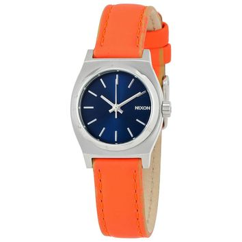 Nixon Small Time Teller Leather Ladies Watch A5092077