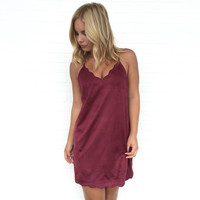 Express Yourself Shift Dress In Wine