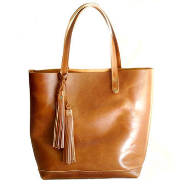 The Panama Tote in Deep Tan- SS14