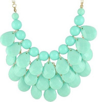3 row teardrop Statement Jewelry, Chunky Necklace, Bubble Necklace