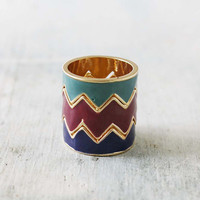 Drifting Chevron Ring in Multi
