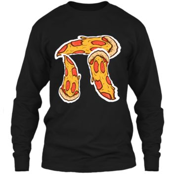 Pi Day Shirt kids Pizza Pi Funny Math Food 3.14 Distressed LS Ultra Cotton Tshirt