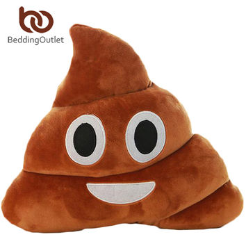 BeddingOutlet Smile Cushion Poop Emoji Pillow Special Gifts Smiley Face Pillow 3 Sizes cojines decorativos On Sale