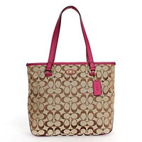 Coach 12cm Signature Zip Top Tote  COACH bag